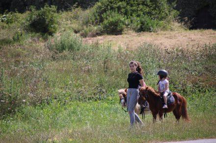 Der grüne Pfad entlang der Steilküste ist auch bei Reitwanderern beliebt.