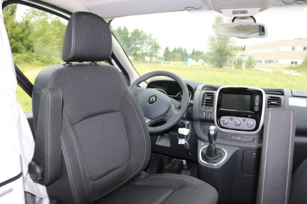 Das Cockpit des neuen Renault Trafic.