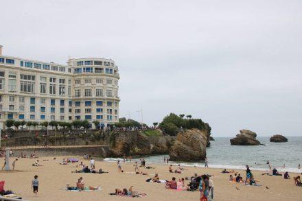 Der Stadtstrand von Biarritz.