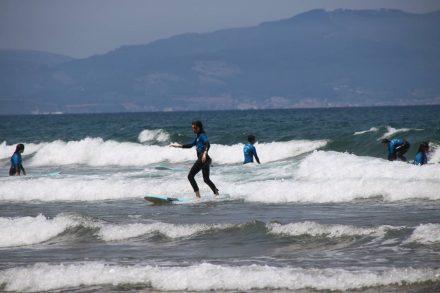 Die Bucht von Sopela ist bei Surfern sehr beliebt.