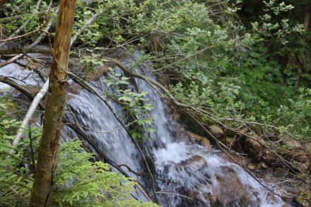 Wasserfall im Jurez Graben.