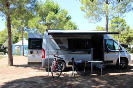 Mit Camping-Bus und Bike auf Toskana-Tour.