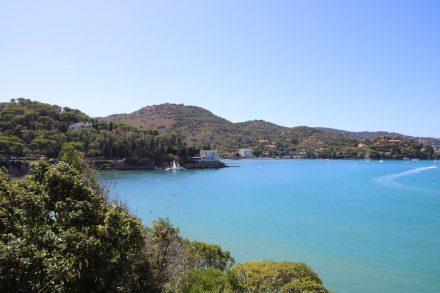 Erster Blick auf die Halbinsel des Monte Argentario und die Bucht von Porto San Stefano.