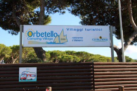 Das Camping Village Orbetello bei Albinia.
