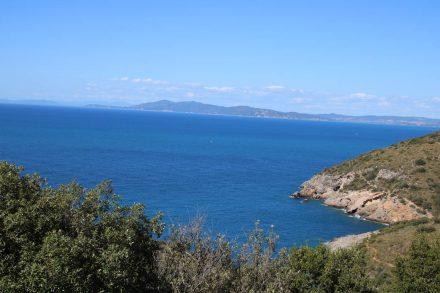 Blick von der Panoramastraße am Monte Argentario im Süden der Toskana.