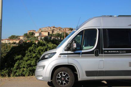 Der Adria Twin Ducato auf seiner Reise durch die Toskana.