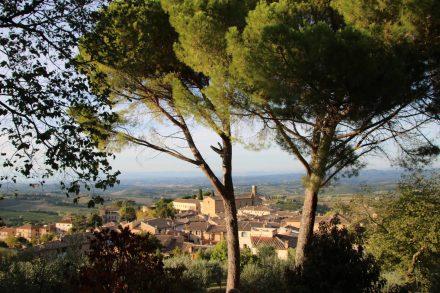 Die ehemalige Festung von San Gimignano liegt hoch oben über der Altstadt.