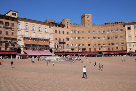 Erstaunlich leer war der wunderschöne Piazza del Campo in Siena.