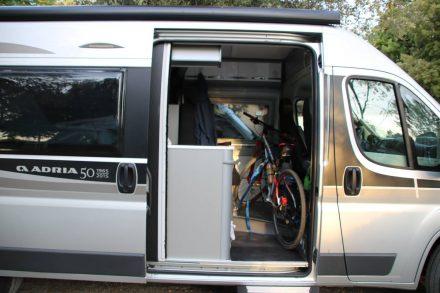 Mit meinem Adria Twin Spaßmobil und dem Bike reise ich nach Panzano zur Bike-Tour im Chianti.