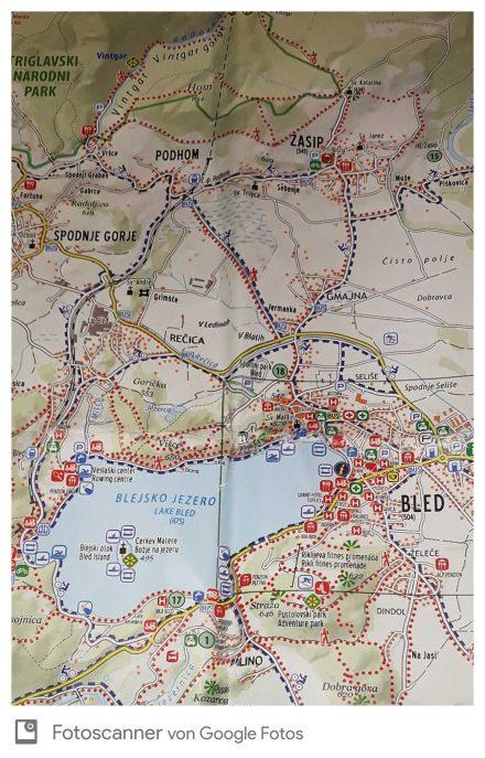 Die Wanderung vom Bleder See nach Vrsce und dann durch die Vintgar Schlucht und über Santa Katarina zurück.