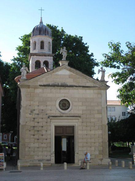 Die putzige, kleine Kirche der Muttergottes der Gesundheit in Zadar.