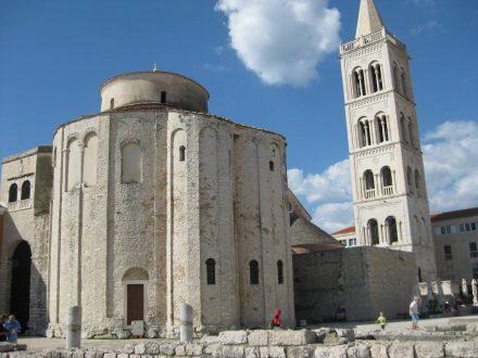 Die berühmte Kirche Sveti Donat im Herzen des mittelalterlichen Zadar.