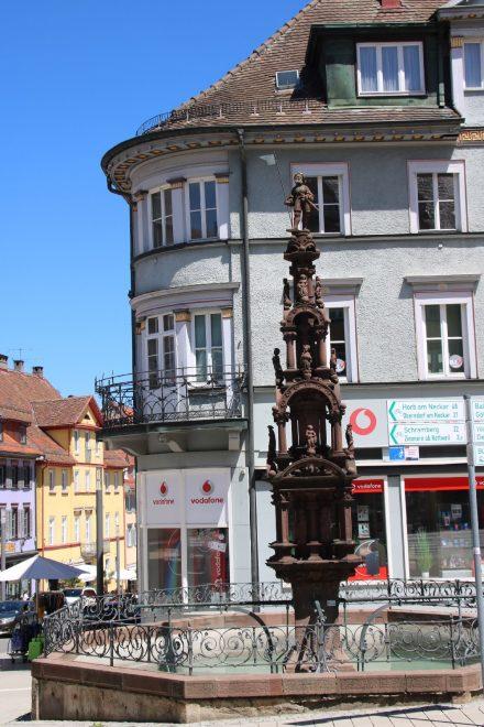 Vierstöckige Brunnenpyramide in Rottweil am Neckar