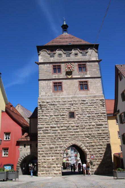 Der Uhrenturm mit Stadttor in Rottweil am Neckar
