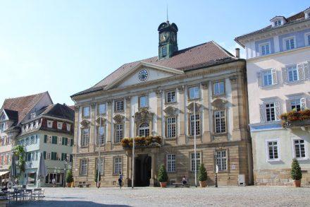 Altes Rathaus an gleichnamigem Platz in Esslingen am Neckar.