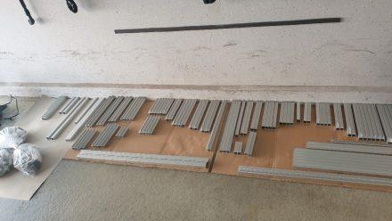 Über 400 Einzelteile auf Maß bei Alu-Steck bestellt.