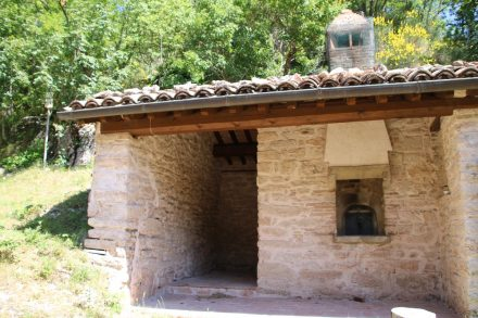Der alte Brotbackofen der Abtei wurde renoviert