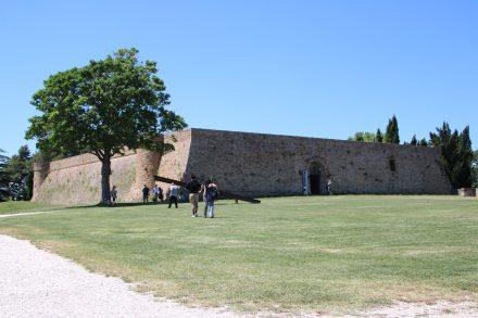 Hoch über Urbino liegt die Trutzburg Albornoz