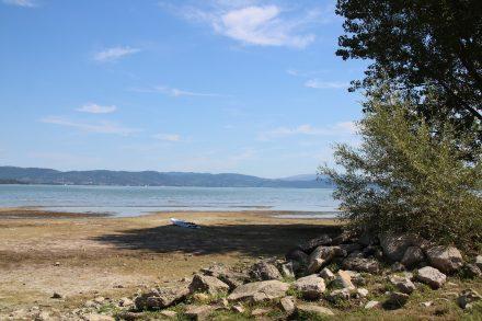 Strandblick am Camping Listro in Castiglione del Lago