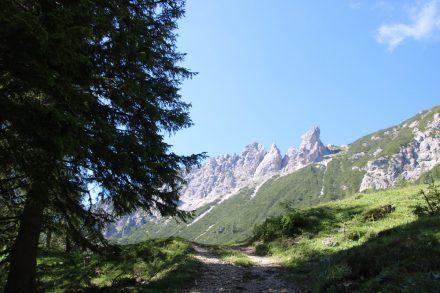 Aufstieg zur Kaserhütte auf 1.496 Meter
