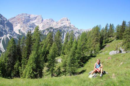 Der Wanderweg rund um den Pragser Wildsee führt zum Schluss noch über die Schwarzberg Höhe