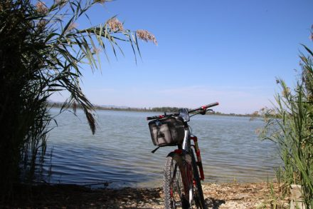 Erfrischung im Lago di Montepulciano nach rund 40 Kilometern auf dem Bike