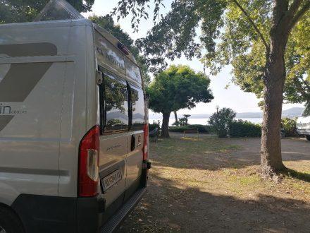 Platz mit Seeblick am Lido Camping Village in Bolsena