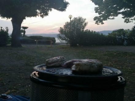 Abendstimmung am Camping Lido am Bolsena See
