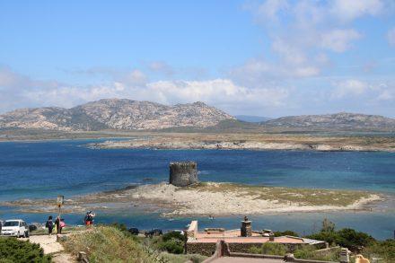 Blick von Campo del Falcone auf die Insel Asinara