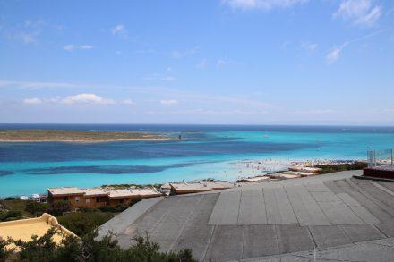 Blick vom Capo del Falcone auf den Spiaggia Pelosa