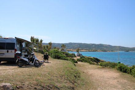 Unser Stellplatz am Camping Isuledda auf Sardinien