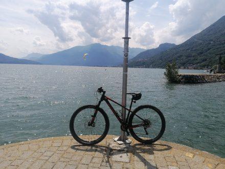 Mit Wohnmobil und Bike am Comer See