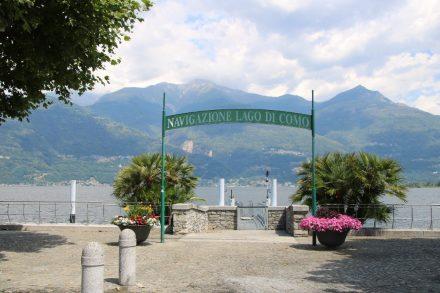 Anlegestelle an der Kaimauer von Colico