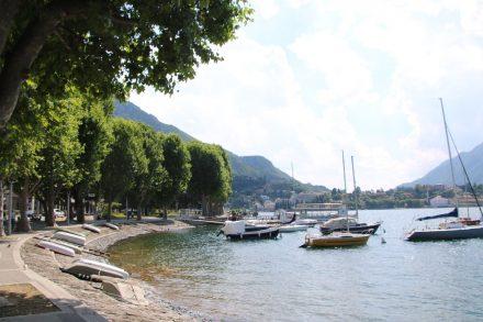 Schön und entspannt lädt die Bucht von Lecco zum Bummeln ein
