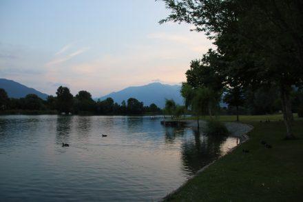 Abendstimmung am Comer See bei Sorico
