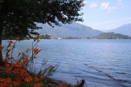 Umrundung des Comer Sees am Nordufer mit Blick auf Colico