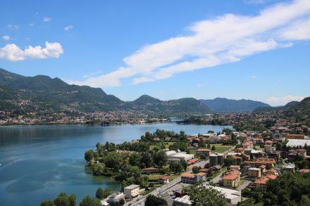 Traumhafter Ausblick auf den Hügeln westlich des Lago di Garlate