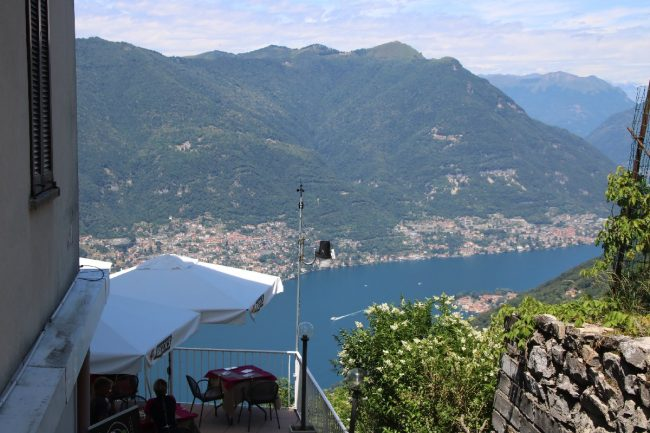Besuch in Como und auf dem Balkon der Alpen